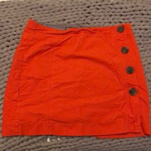 Vineyard vines orange corduroy skirt size 8